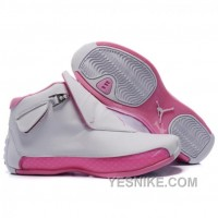 Big Discount! 66% OFF! Air Jordan 18 Original OG White Women Pink 313038-162