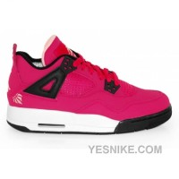 Big Discount! 66% OFF! Air Jordan 4 Girls Voltage Cherry Black White 487724-601