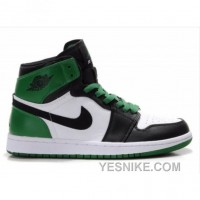 Big Discount! 66% OFF! Air Jordan Retro 1 High (gs) Boston Celtics White Black Varsity Green 332558-101 For Sale
