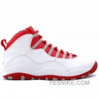 Big Discount! 66% OFF! Air Jordan Retro 10 Gs Wht Red Gry 310806-161