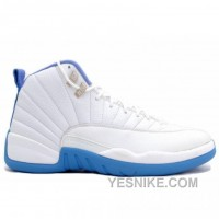 Big Discount! 66% OFF! Air Jordan Retro 12 Women White University Blue 308243-142