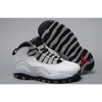 Big Discount! 66% OFF! Kids Air Jordan 10 Retro Steel White Black 2016 New Edition Sale Black Friday