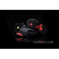Big Discount! 66% OFF! Kids Air Jordan 14 Retro Black Red