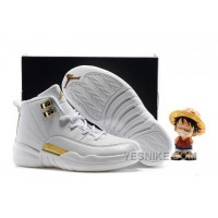 Big Discount! 66% OFF! Kids Air Jordan 12 All White Gold 2016 For Sale Fb4DR