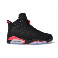 Big Discount! 66% OFF! Authentic 384664-023 Air Jordan 6 Retro Black/Infrared 23-Black Grade School's Shoe