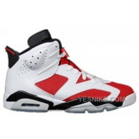 Big Discount! 66% OFF! Authentic 384664-160 Air Jordan 6 Retro White/Carmine-Black Grade School's Shoe