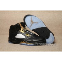 Big Discount! 66% OFF! Men Basketball Shoes Air Jordan 5 Olympic Gold Medal AAA 307