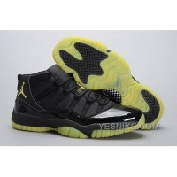 Big Discount! 66% OFF! Cheap Men Jordan 11 Thunder All Black Yellow For Sale