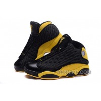 Big Discount! 66% OFF! Air Jordan 13 Melo Carmelo Anthony Nuggets Away PE Black Yellow Gold
