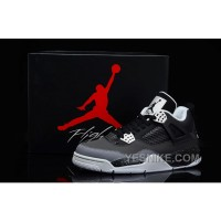 Big Discount! 66% OFF! Air Jordan IV 4 Fear Pack Black Cool Grey Pure Platinum