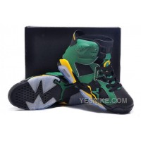 Big Discount! 66% OFF! Jordan 6 O Green Yellow Oregon Ducks Black For Sale