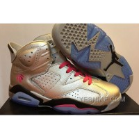 Big Discount! 66% OFF! Men Nike Air Jordan 6 Valentines Day Metallic Silver Pink