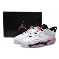 Big Discount! 66% OFF! Air Jordan 6 (VI) Retro Low White Infrared 23 Black 2015