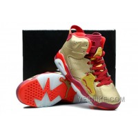 Big Discount! 66% OFF! Cheap Air Jordan 6 VI Retro Cigar Metallic Gold Raw Umber-Chilling Red-Team Red