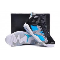 "Big Discount! 66% OFF! Air Jordan 6 VI Retro ""Atmos"" Customs Black Cement Turquoise Elephant Print"