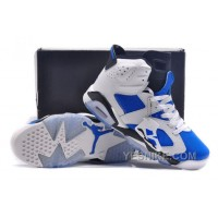 Big Discount! 66% OFF! Jordan 6 Bluemine White Royal Blue Black Free Shipping
