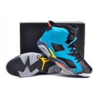 Big Discount! 66% OFF! Jordan 6 Cannon Custom Blue Black Volt And Orange For Sale