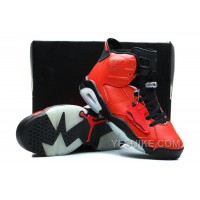 Big Discount! 66% OFF! Air Jordan 6 VI Shoes Toro Bravo Infrared Red Black