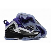 Big Discount! 66% OFF! Jordan Air Spike 40 Forty PE Black Purple White Shoes For Sale