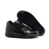 Big Discount ! 66% OFF! Nike Air Flight '89 All Black Leather Basketball Shoes For Sale 311577