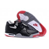 "Big Discount ! 66% OFF! Nike Air Flight '89 ""Bred"" Black/Cement Grey-Fire Red-White Mens Basketball Shoes"