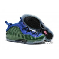 Big Discount ! 66% OFF! Nike Air Foamposite One Green Blue For Sale