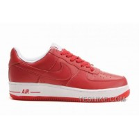 Big Discount ! 66% OFF! Soldes Durable Femme Nike Air Force 1 Low Chaussures Rouge/Blanche Soldes