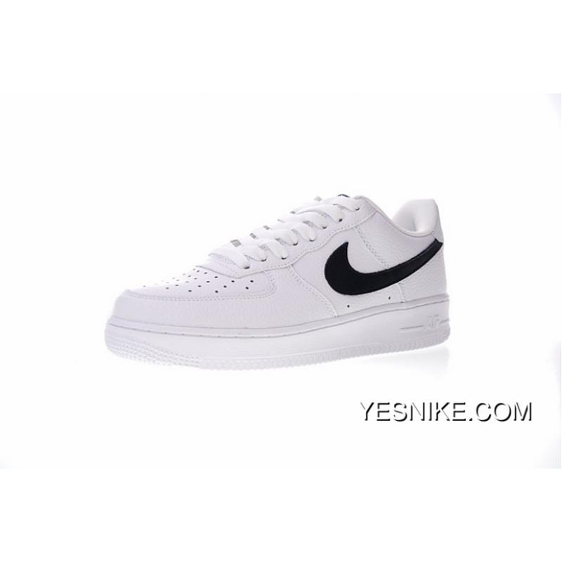 sports shoes 94259 69949 Correct Litchi Grain Leather Version Nike Air Force 1 AF1 Low One All-match  Sneakers White Black Five-star AA4083-103 Copuon