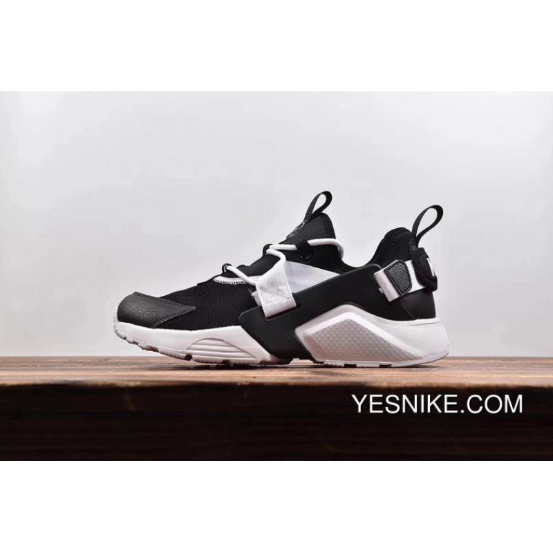 1aa60f5bc8dd The Strongest Version AH6804 002 Nike Air Huarache City Low 5 Running Shoes  Black White Outlet ...