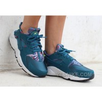 Big Discount ! 66% OFF! Nike Air Huarache Womens Blue Black Friday Deals 2016[XMS1418]