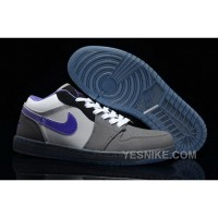Big Discount! 66% OFF! Closeout Nike Air Jordan I 1 Retro Mens Shoes Low Grey Purple FFaJJ