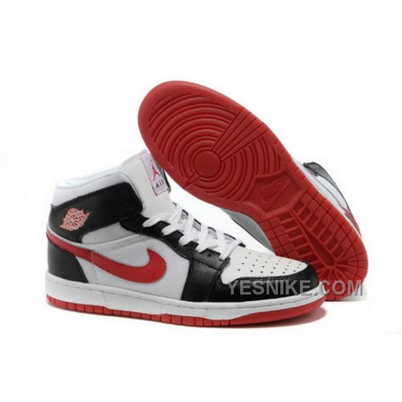 Big Discount 66 OFF Netherlands To Buy Air Jordan 1 I Mens Shoes Online Sale Black White Red HzXKe