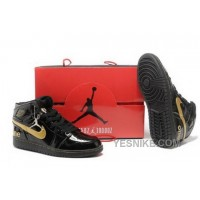 Big Discount! 66% OFF! Best Price To Buy High Cut Air Jordan 1 I Retro Mens Shoes Black Yellow KMynA