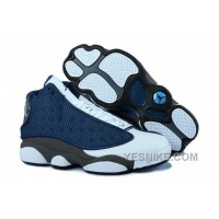 Big Discount! 66% OFF! Nike Air Jordan 13 Mens Navy Blue Grey White Shoes BdAcK