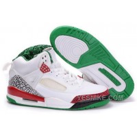 Big Discount! 66% OFF! Norway Air Jordan Spizike 3.5 Retro Mens Shoes White Green 6eT6p