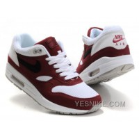 Big Discount ! 66% OFF! Nike Air Max 1 Mens Red White Black Friday Deals 2016[XMS1481]
