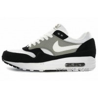 Big Discount ! 66% OFF! Nike Air Max 1 Mens White Grey Black Black Friday Deals 2016[XMS1506]
