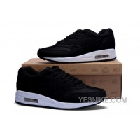 Big Discount ! 66% OFF! Nike Air Max 1 Mens Black Black Friday Deals 2016[XMS1514]