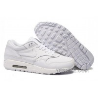 Big Discount ! 66% OFF! Nike Air Max 1 Mens All White Black Friday Deals 2016[XMS1520]