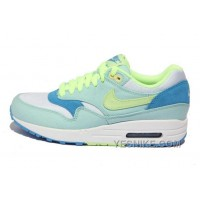 Big Discount ! 66% OFF! Nike Air Max 1 Womens Green Black Friday Deals 2016[XMS1608]
