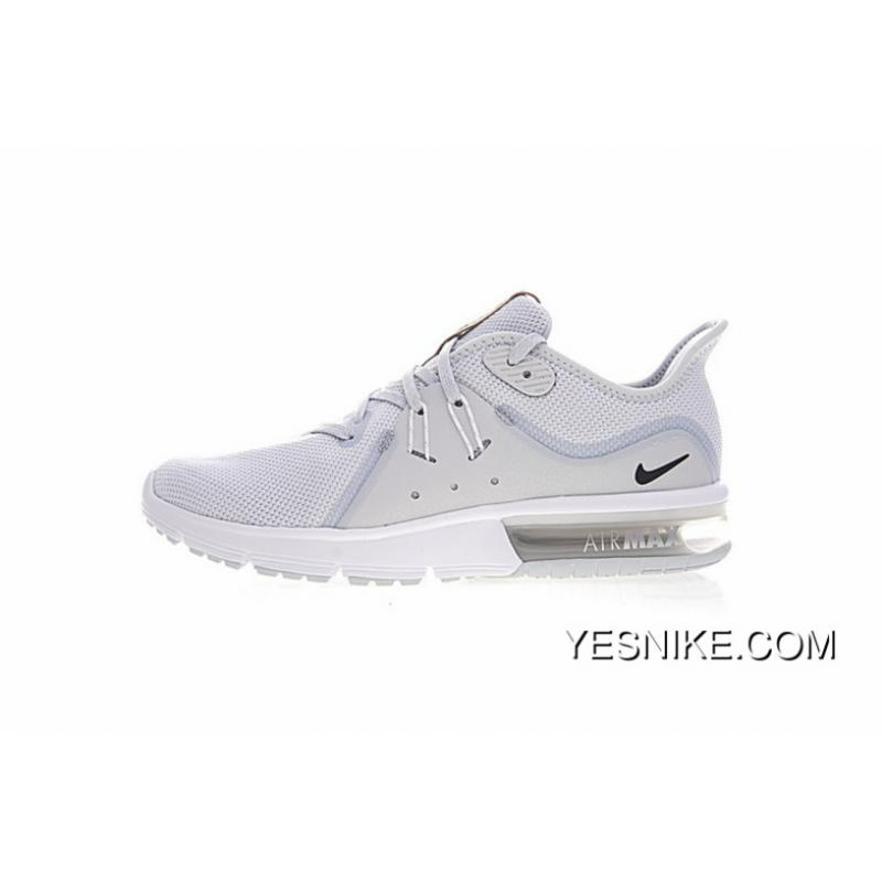 9bc70bc1c8 After Men Shoes Nike Air Max Sequent Three Palm Cushioning Super Soft Zoom  Jogging Shoes White ...