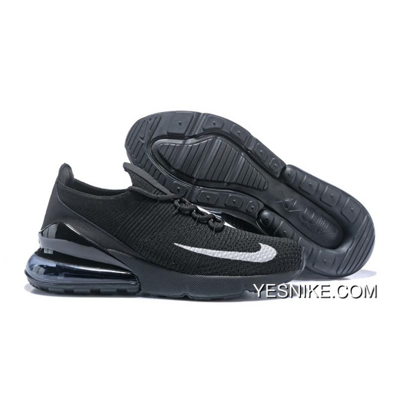 quality design 683a7 d423e Online Nike Air Max 270 FLYKNIT Half-palm Cushion All Black