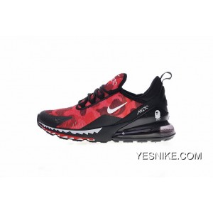 new style 8b672 f59c8 Creative Customized Japanese Camo Bape A Bathing APE X Nike Air Max 270  Series Heel Half-palm As Jogging Shoes Red Shark Camo AH6799-016 Latest