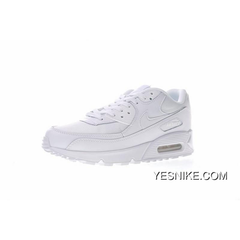 buy online a405b cc020 Entity Nike Air Max90 Essential Retro Zoom All-match Jogging Shoes All  White 537384-111 Free Shipping