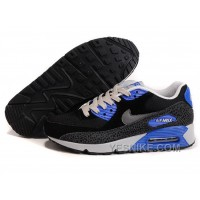 Big Discount ! 66% OFF! Nike Air Max 90 Mens Black Blue Black Friday Deals 2016[XMS1787]