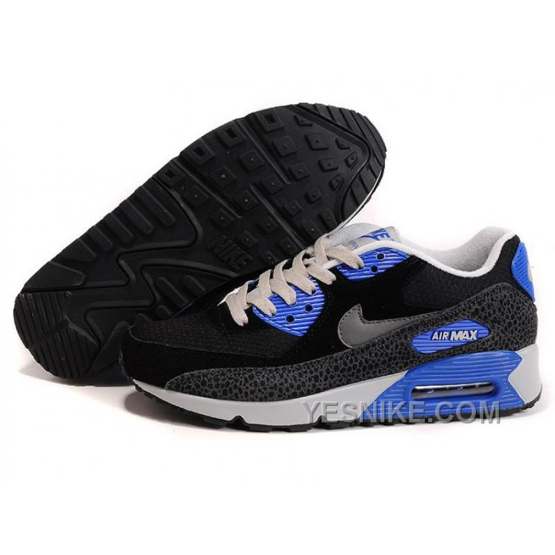 Big Discount  66 OFF Nike Air Max 90 Mens Black Blue Black Friday Deals 2016XMS1787