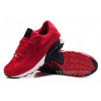 Big Discount ! 66% OFF! Nike Air Max 90 Mens Red Black Friday Deals 2016[XMS1829]