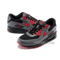 Big Discount ! 66% OFF! Nike Air Max 90 Mens Grey Red Black Friday Deals 2016[XMS1842]
