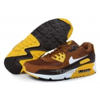 Big Discount ! 66% OFF! Nike Air Max 90 Mens Yellow Brown Black Friday Deals 2016[XMS1846]