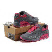 Big Discount ! 66% OFF! Nike Air Max 90 Womens Grey Pink Black Friday Deals 2016[XMS1855]